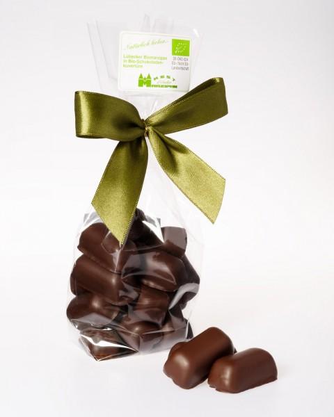 BIO-Marzipan in BIO-Zartbitterschokolade