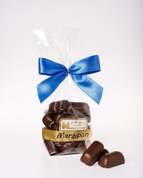 Marzipan-Happen in Zartbitterschokolade