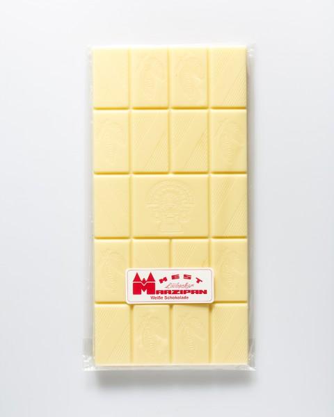 Weiße Schokoladentafel