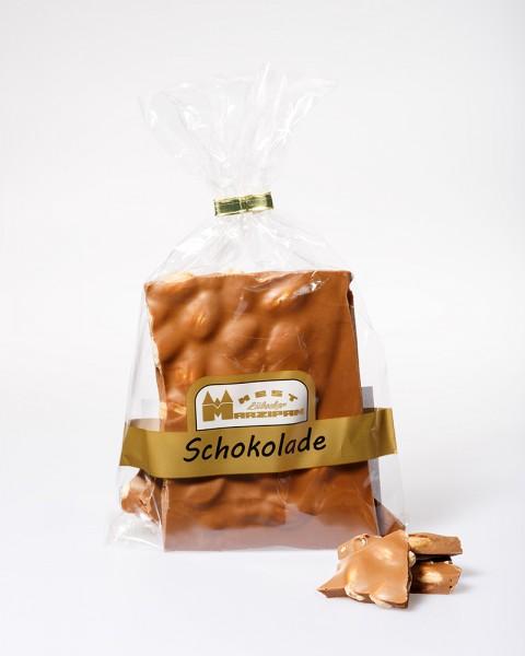 Bruchschokolade Karamell mit ganzen gerösteten Mandeln