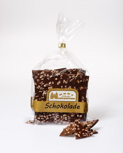 Bruchschokolade Edelzartbitter mit gerösteten Kakaobohnen