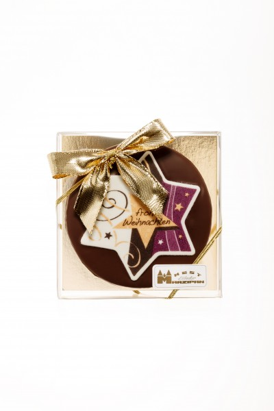 """Marzipan-Torte """"Weihnachten"""" in Zartbitterschokolade"""