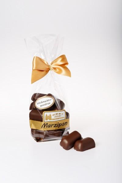 "Marzipan-Happen ""weihnachtl. Gewürze"" in Zartbitterschokolade"