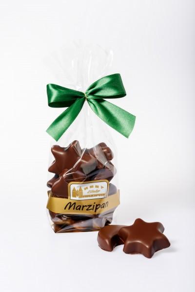 Marzipan-Weihnachtsmischung in Zartbitterschokolade