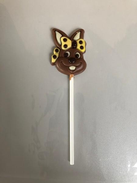 "Schokoladen Lolly ""Häsin mit Schleife"" 15g"
