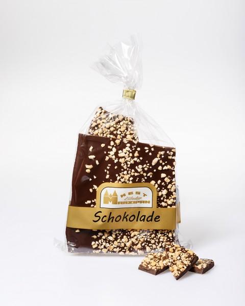 Bruchschokolade Zartbitter mit Haselnusskrokant