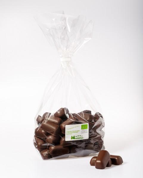 BIO-Marzipanbruch in Bio-Zartbitterschokolade