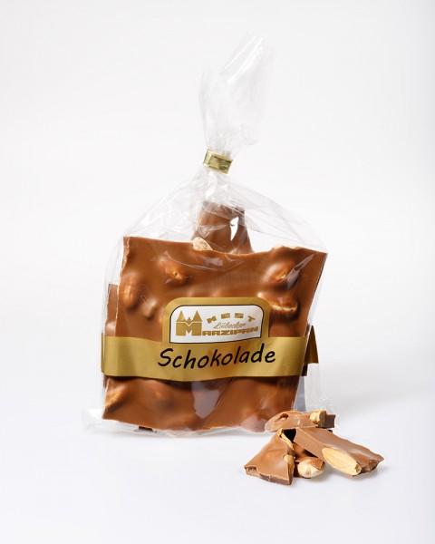 Bruchschokolade Vollmilch mit ganzen gerösteten Mandeln