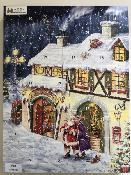 Weihnachtskalender mit Pralinen gefüllt