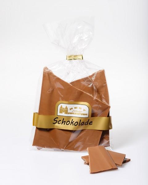 Bruchschokolade Vollmilch mit dunklem Nussnougat