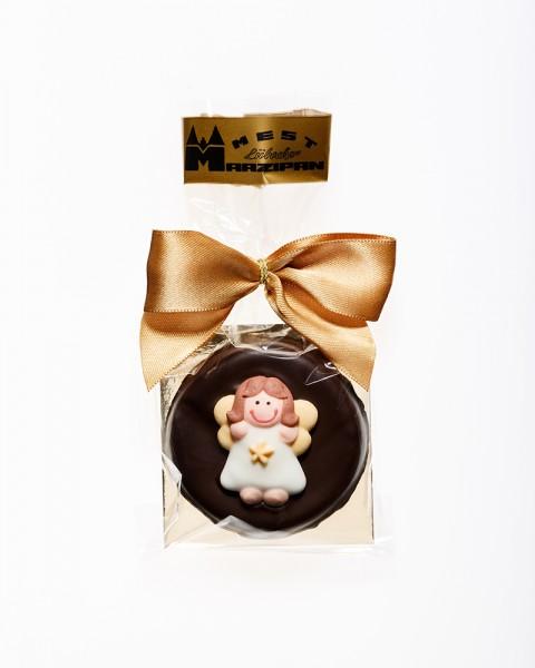 "Marzipan-Torte ""Engel"" in Zartbitterschokolade"