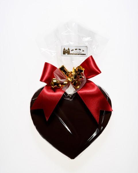 Marzipan-Herz in Zartbitterschokolade