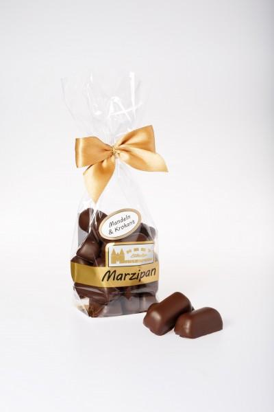 Marzipanhappen mit Mandeln & Krokant in Zartbitterschokolade