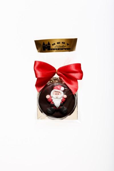 """Marzipan-Torte in Zartbitterschokolade """"Weihnachtsmann"""""""