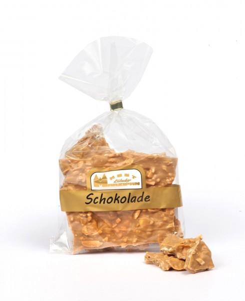 Knusperschokolade Karamell gold